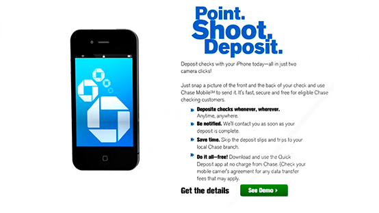Chase Quick Deposit iPhone Application Demo