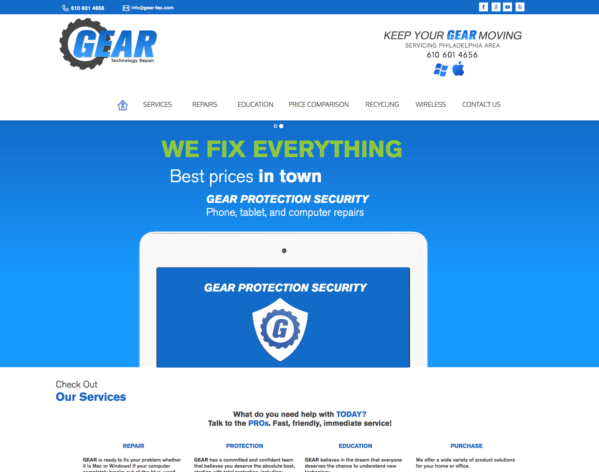 GEAR Technology Website Design Website Maintenance