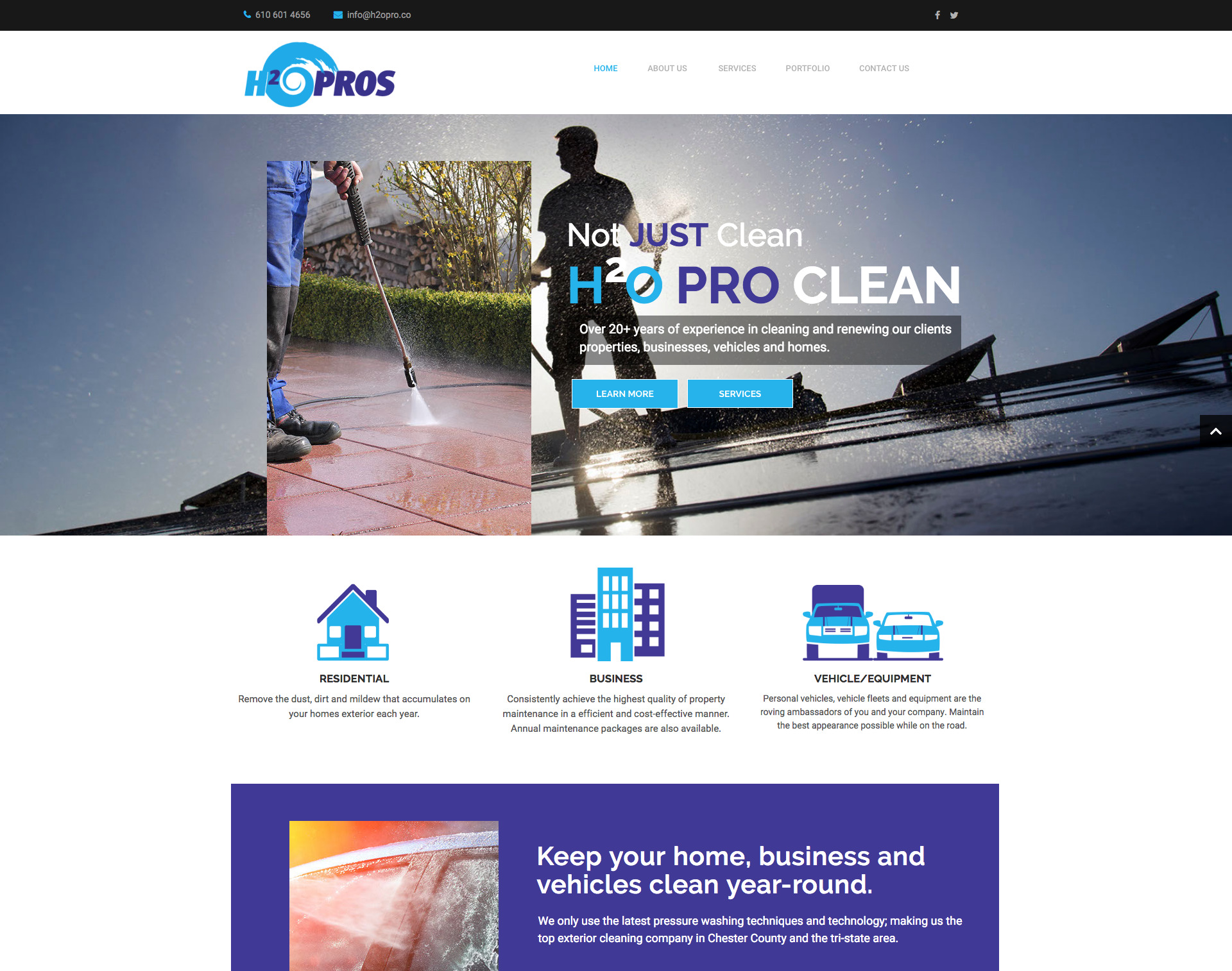 H2O PRO's Website Design Website Maintenance