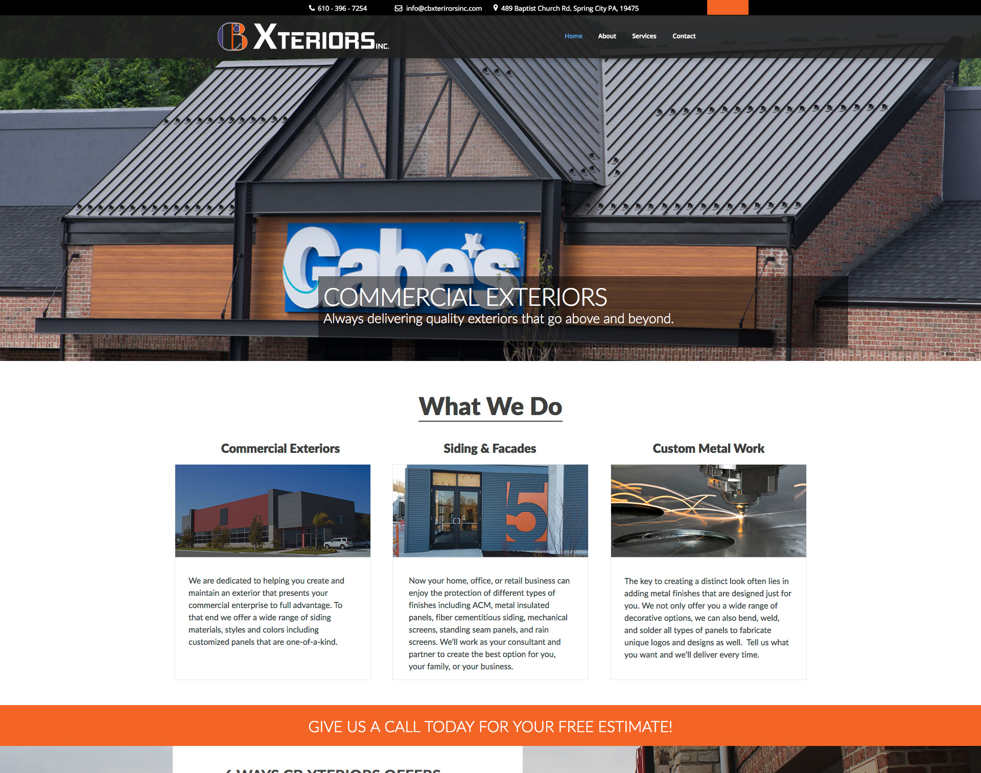 CB Xteriors Website Design Website Maintenance